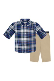 Baby Boys Shirt & Trousers Set