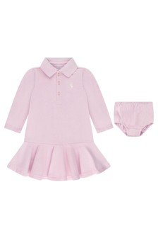 Baby Girls Light Pink Cotton Polo Dress