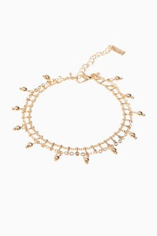 Beaded Two Layer Anklet
