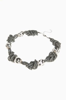Animal Print Beaded Necklace
