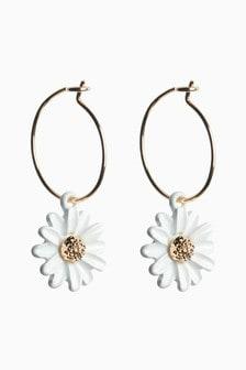 Daisy Mini Hoop Earrings
