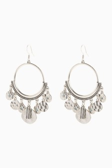 Burnished Statement Earrings