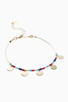 Colourful Beaded Anklet