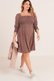 Maternity Milkmaid Mini Dress