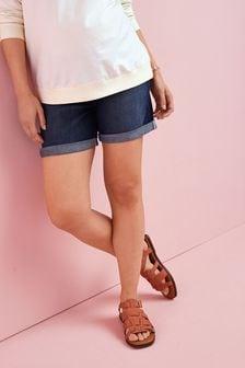 Maternity Denim Boy Shorts