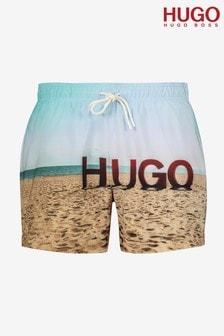 HUGO Blue Beech Swim Shorts