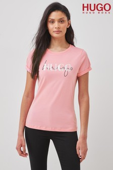 HUGO Pink The Slim T-Shirt