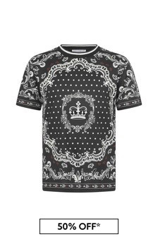 Dolce & Gabbana Kids Boys Cotton Bandana Print T-Shirt