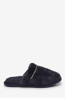 Square Toe Mule Slippers