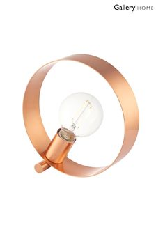 Gallery Direct Circle Copper Table Lamp