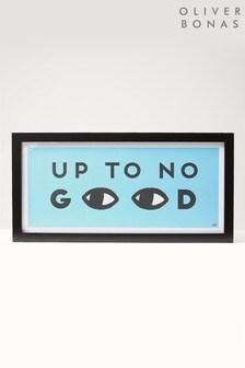 Oliver Bonas Up to No Good Blue Wall Art