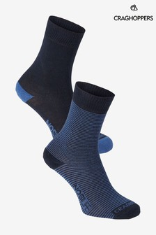 Craghoppers Blue Nlife Socks Twin Pack