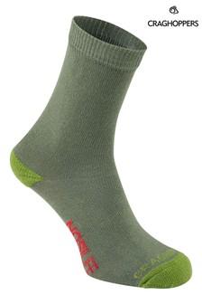 Craghoppers Green Nlife Kids Travel Socks