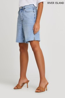 River Island Denim Light Bermuda Premium Shorts