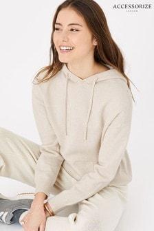 Accessorize Knit Longline Lounge Hoodie