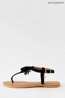 Accessorize Suede Tassel Sandals