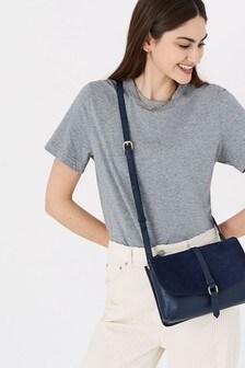 Accessorize Farah Leather Flap Cross-Body Bag