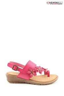 Heavenly Feet Ladies Violet Sandals