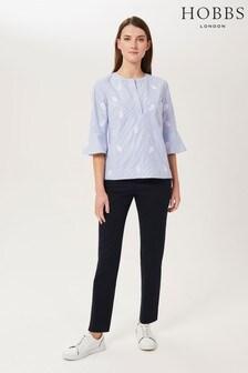 Hobbs Blue Yasmin Capri Trousers