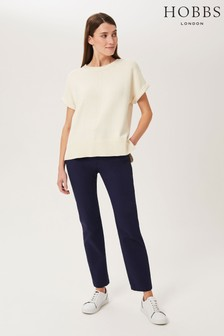 Hobbs Blue Molly Chino Trousers