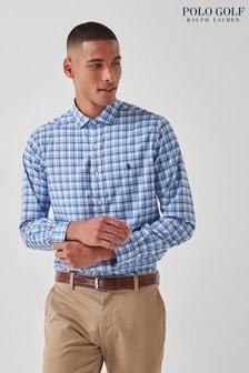 Polo Golf by Ralph Lauren Blue Stretch Sport Shirt