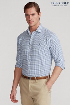 Polo Golf by Ralph Lauren White/Blue Stretch Cotton Shirt