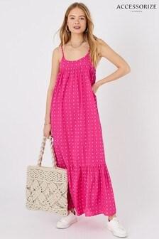 Accessorize Dobby Maxi Dress