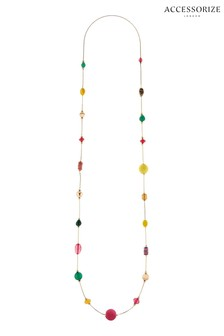 Accessorize Ivory Coast Coloured Bead Rope Necklace