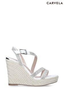 Carvela White Summer Bling Sandals