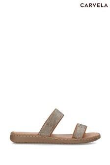 Carvela Comfort Gold Shake Sandals
