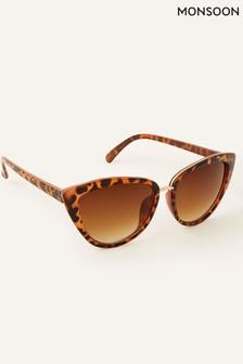 Monsoon Brown Charlie Cat-Eye Sunglasses