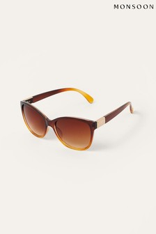 Monsoon Brown Reena Round Sunglasses