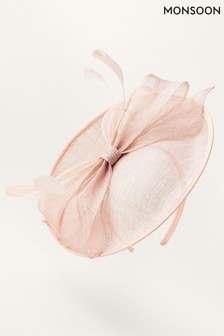 Monsoon Pink Bow Disc Fascinator