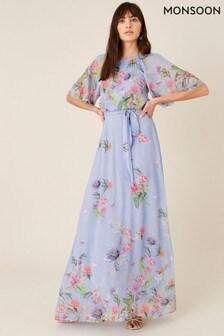Monsoon Blue Esmee Floral Maxi Dress
