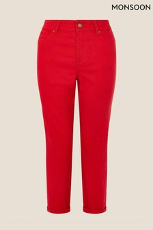 Monsoon Red Idabella Cropped Jeans