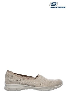 Skechers Brown Seager Bases Covered Slip-On Trainers