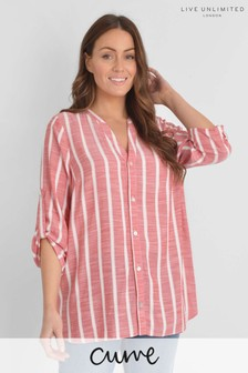 Live Unlimited Curve Red Stripe Longline Shirt