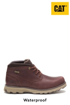 CAT Lifestyle Brown Elude Waterproof Lace-Up Boots