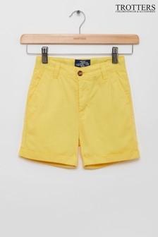Trotters London Yellow Charlie Chino Shorts