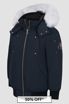 Moose Knuckles Boys Navy Jacket