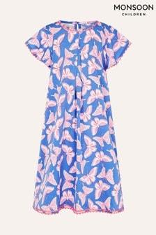 Monsoon Blue Butterfly Swing Dress