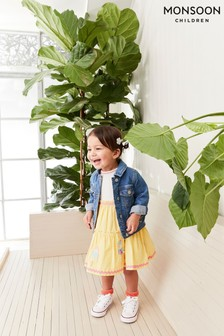 Monsoon Yellow Baby Ice Cream 2-in-1 Dress