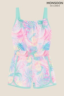 Monsoon Pink Active Palm Print Playsuit