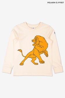 Polarn O. Pyret Cream Organic Cotton Disney The Lion King Simba Print Top