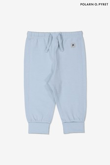 Polarn O. Pyret Blue Organic Cotton Baby Leggings