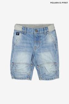 Polarn O. Pyret Blue Organic Cotton Denim Shorts