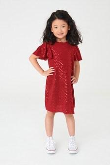 Sparkle Angel Sleeve Dress (3-16yrs)