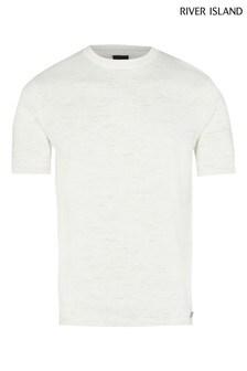 River Island Ecru Marl T-Shirt