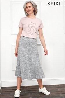 Spirit Grey Soft Touch Midi Skirt