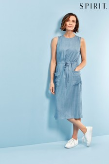 Spirit Blue Denim Midi Dress
